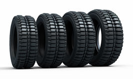 Vehicle perspective tires Royalty Free Stock Images