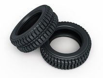 Vehicle perspective tires Stock Photography
