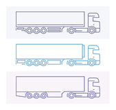 Vehicle Pictograms: European Trucks 3 Royalty Free Stock Image