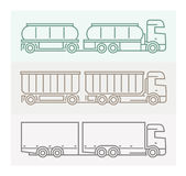 Vehicle Pictograms: European Trucks - Tandems 4 Stock Photos