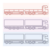 Vehicle Pictograms: European Trucks - Tandems 5 Stock Image