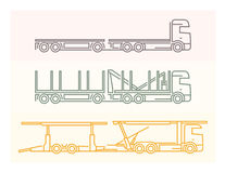 Vehicle Pictograms: European Trucks - Tandems 5 Stock Images