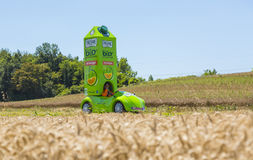 The Vehicle of Pressade - Tour de France 2016. Saint-Quentin-Fallavier, France - July 16, 2016: The Vehicle of Pressade during the passing of Publicity Caravan Royalty Free Stock Photography