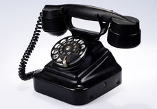 Vehicle public-call. A telephone set is made in Finland to the v1938 year Stock Image
