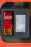 Vehicle rear lamp closeup Royalty Free Stock Image