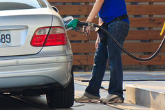 Vehicle refueling Stock Images
