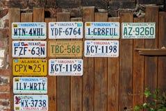Vehicle registration plates Stock Image