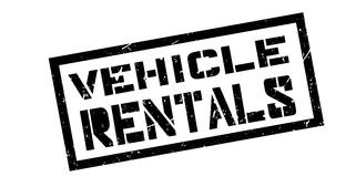 Vehicle rentals rubber stamp. On white. Print, impress, overprint Royalty Free Stock Photography