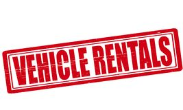Vehicle rentals. Stamp with text vehicle rentals inside,  ilustration Stock Photo