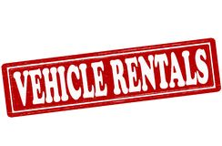 Vehicle rentals. Stamp with text vehicle rentals inside,  ilustration Royalty Free Stock Images