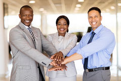 Vehicle sales team hands together Stock Photography