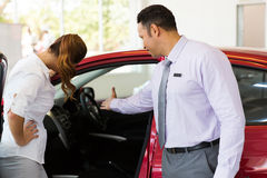 Vehicle salesman buyer Stock Photos