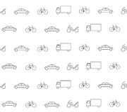 Vehicle seamless pattern Royalty Free Stock Images