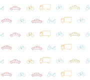 Vehicle seamless pattern Royalty Free Stock Image