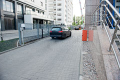 Vehicle security barrier Stock Photo