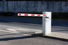 Vehicle security barrier. On parking Royalty Free Stock Photography