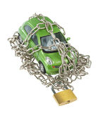Vehicle security with padlock and chain Stock Image