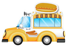 A vehicle selling buns and hotdogs Stock Photography