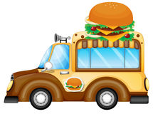 A vehicle selling burgers Royalty Free Stock Photo