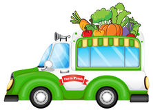 A vehicle selling fresh vegetables Royalty Free Stock Images