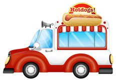 A vehicle selling hotdogs Royalty Free Stock Image