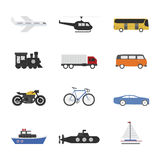 Vehicle. Set of vehicle icon on white background Royalty Free Stock Image