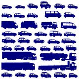 Vehicle shapes. Isolated on white background stock illustration