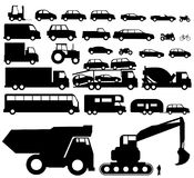 Vehicle silhouette vector Stock Photography