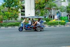 Vehicle on street in bangkok royalty free stock photo