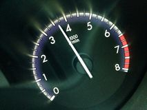 Vehicle tachometer Royalty Free Stock Photography