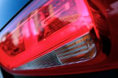 Vehicle taillights  Royalty Free Stock Images