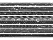 Vehicle tire tracks. Tread grunge track wheel trace trail dirty road speed skid auto scratch print texture collection royalty free illustration
