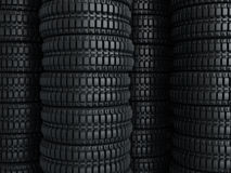 Vehicle tires stacked perspective Stock Image