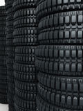 Vehicle tires stacked perspective Royalty Free Stock Image