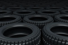 Vehicle tires stacking Stock Image
