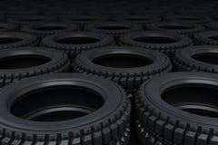 Vehicle tires stacking Stock Image