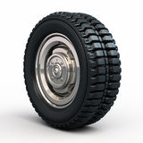 Vehicle tires and wheel Stock Photo