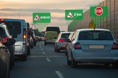 Vehicle to vehicle communication royalty free stock photo