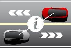 Vehicle to vehicle communication. royalty free illustration