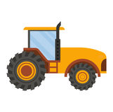 Vehicle tractor farm vector. Illustration  on white background. Construction industry farm harvesting machinery equipment tractors Royalty Free Stock Image