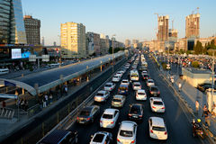 Vehicle traffic, Istanbul, Turkey Stock Image