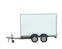 Vehicle trailer. From the side Royalty Free Stock Photos