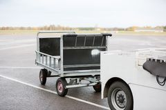 Vehicle With Trailer On Runway Stock Photography