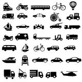 Vehicle transport black vectors vector illustration