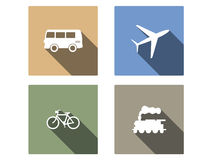 Vehicle and transport vector flat icons Stock Photography