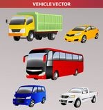 Vehicle transportation vector image design for illustration, postcards, labels, signs, symbols and other design needs. Print Vector or element set Royalty Free Stock Photos