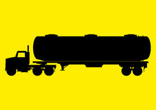 Vehicle Truck. Silhouette of a heavy truck with big tank Royalty Free Stock Photography