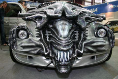 Vehicle tuned in style the movie Aliens in Motor Show. royalty free stock image