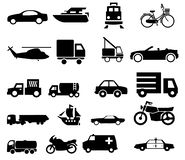 Vehicle transport traffic silhouettes royalty free stock photography