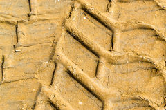 Vehicle Tyre Mud Prints Royalty Free Stock Image